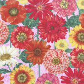 Blossom & Bloom - Blossomed Blooms Pink Yardage