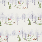 Winter Shimmer 2 - Scenic Deer Opal Pearlized Yardage