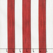America the Beautiful - Stripe Red Off-White Yardage