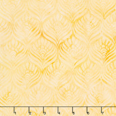 Sweet Hearts Batiks - Feathers Butter Yardage
