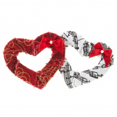 Music Wrapped Heart Pin - Assorted Colors