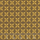 Wit & Wisdom - Trumpet Flower Brown Yardage