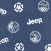 Jeep in the Wild - Jeep Toss Navy Yardage