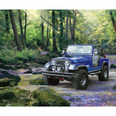 Jeep in the Wild - Jeep Blue Digitally Printed Panel