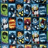 Marvel Comics III - Comic Book Heroes Dark Teal Yardage