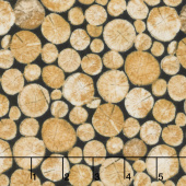The Great Outdoors - Crossgrain Logs Tan Flannel Yardage
