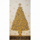 Winter's Grandeur 4 - Vintage Colorstory Tree VIntage Metallic Panel