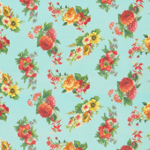 Flea Market Mix - Floral Patina Yardage