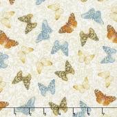 Field of Dreams - Butterfly Garden Cream Yardage