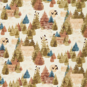 Wild and Free - Lodge Toile Multi Yardage