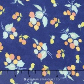 Coney Island - Blueberries Midnight Blue Yardage