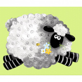 Lewe the Ewe - Sheep Play Mat Green Panel