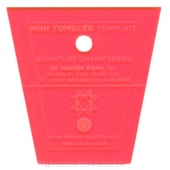 "Missouri Star Limited Edition Mini Tumbler Template For 2.5"" Charm Packs - Red"