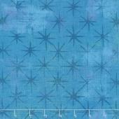Grunge Seeing Stars - Turquoise Yardage