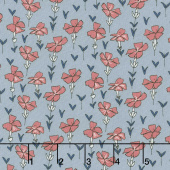 Sweet Stems - Garden Blue Yardage