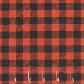 Timber Gnomies - Plaid Red and Black Yardage