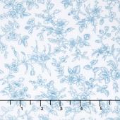 Simply Chic - Blossom Sky Blue Yardage