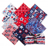 Red, White and Starry Blue Fat Quarter Bundle