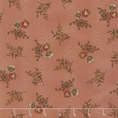Hickory Road - Pansies Brick Red Yardage