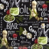 Farmer John's Garden Party - Vegetable Mix Black Yardage