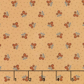 Lancaster - Tri-Flower Soft Gold Yardage