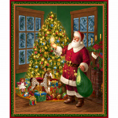 Christmas Eve - Santa and Christmas Tree Multi Panel