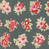 Little Snippets - Marmalade Floral Charcoal Yardage