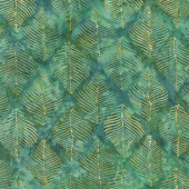 Splendor Batiks - Beech Leaves Emerald Yardage