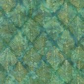 Splendor Batiks - Beech Leaves Emerald Yardage