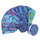 "Kaffe Fassett Collective Stash Blue Florals 2.5"" Strips"