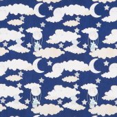 All Our Stars - Scenic Navy Yardage
