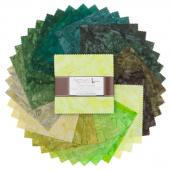 Artisan Batiks Solids - Prisma Dyes Rainforest Batiks Charm Pack