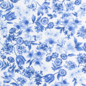 Summer Breeze VI - Spring Garden Ivory Yardage