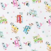 Sweet Treats - Ice Cream Truck Vanilla Yardage