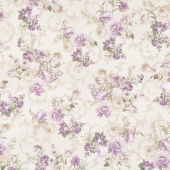Meredith - Flowers Ivory Yardage