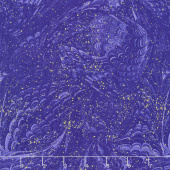 Enchanted - Marble Violet Metallic Yardage