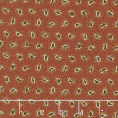 Spice It Up - Petite Paisley Redder Rust Yardage