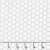 Bee Backgrounds - Honeycomb Gray Yardage