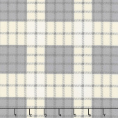 Farmhouse Flannels - Farmer's Plaid Cream Yardage