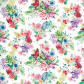 Bloom Bloom Butterfly - Meadowland Carnation Yardage