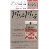 Expressions Laser Cut Fabric Words - Mr and Mrs
