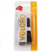"Velcro 5/8"" x 30"" Soft & Flex Strip Black"