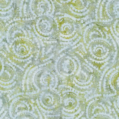 Queen Bee Batiks - Sprig Gray Yardage