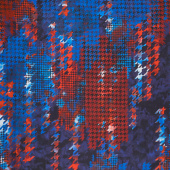 "Houndstooth Kaleidoscope - Houndstooth Patriotic Red Blue Digitally Printed 108"" Wide Backing"