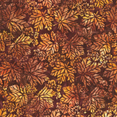 Artisan Batiks - Cornucopia 10 Leaves Ember Yardage
