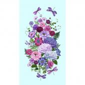 Dragonfly Garden - Garden Banner Sky Blue Panel
