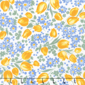 Sunshine Garden - Flowers Yellow Yardage