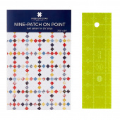 "Missouri Star 2.5"" x 8"" Ruler & Nine Patch on Point Quilt Pattern Bundle"
