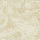 "108"" Quilt Back - Paisley Beige 108"" Wide Backing"