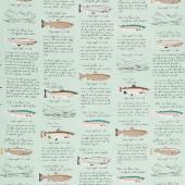 Gone Camping - Trout Paper Aqua Yardage